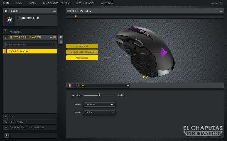 Corsair Ironclaw RGB Wireless - Software 2