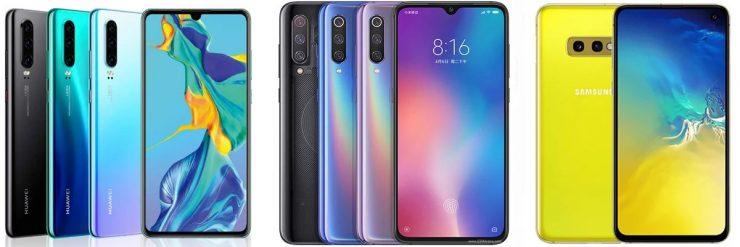 Huawei P30 vs Xiaomi Mi 9 vs Samsung Galaxy S10e 740x247 0