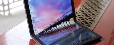 Lenovo muestra un prototipo de portátil con panel OLED plegable