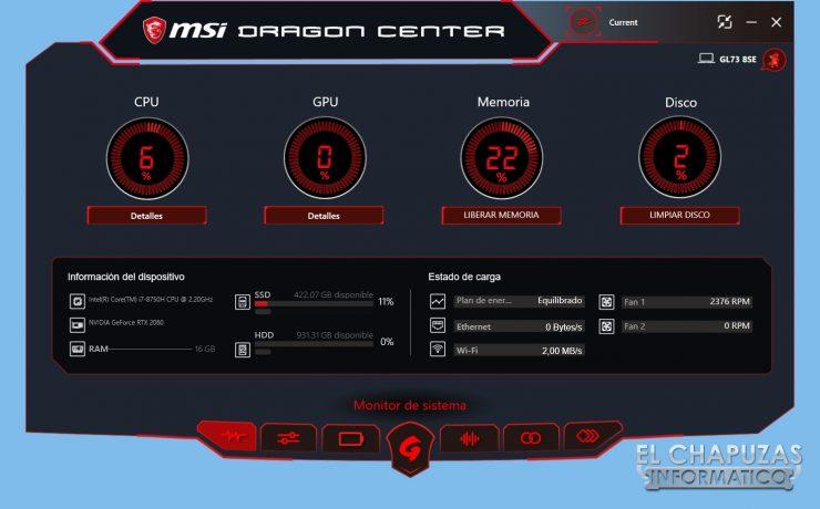 MSI GL73 8SE - Software 01