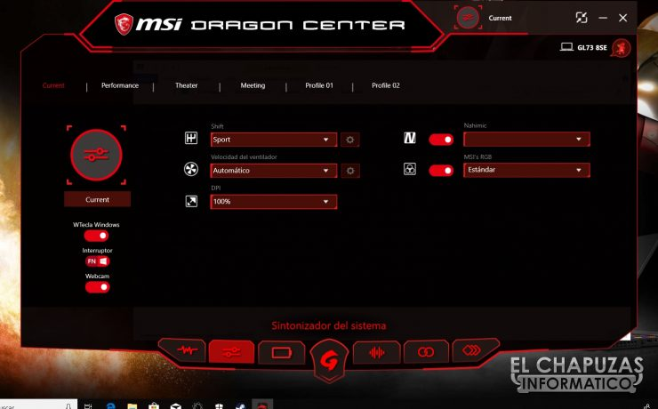 MSI GL73 8SE - Software 02