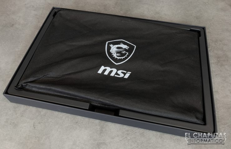 MSI GS75 Stealth 8SF - Embalaje Interior