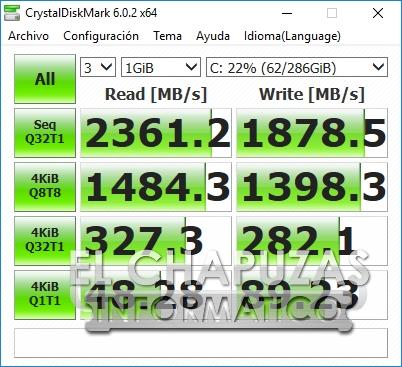 MSI GS75 Stealth 8SF - CrytstalDiskMark