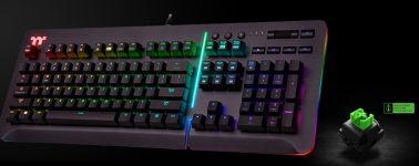 Thermaltake Level 20 RGB: Teclado mecánico con pulsadores Razer Green