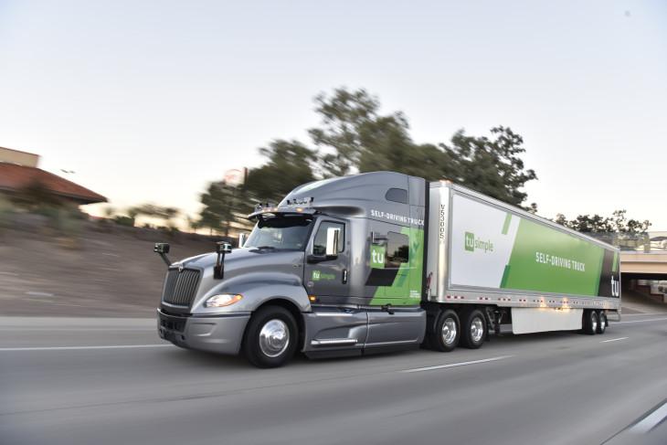 TuSimple camión autónomo Estados Unidos