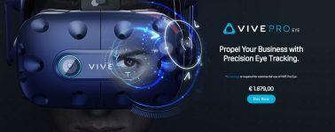 HTC lanza sus gafas VIVE Pro Eye: Añadiendo seguimiento ocular a un precio de 1.679 euros