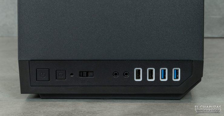 P101 Silent - Conectores y botones
