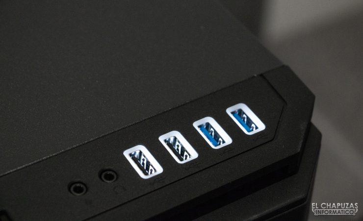 P101 Silent - Puertos USB iluminados