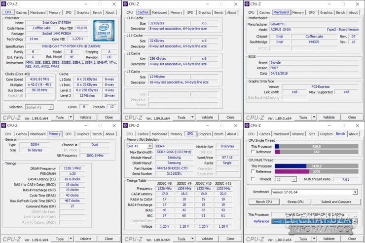 Aorus 15-SA - CPU-Z