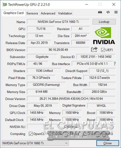 Aorus 15-SA - GPU-Z