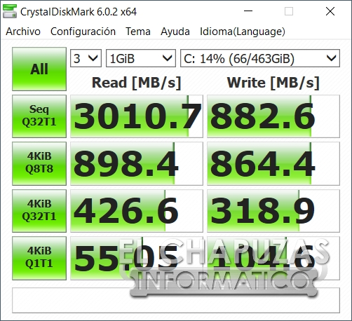Aorus 15-SA - CrystalDiskMark