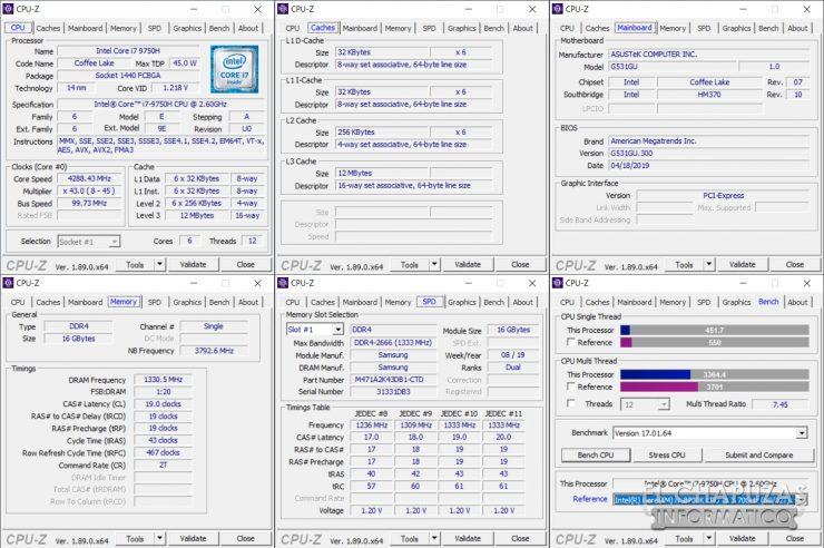 Asus ROG Strix G531G -CPU-Z