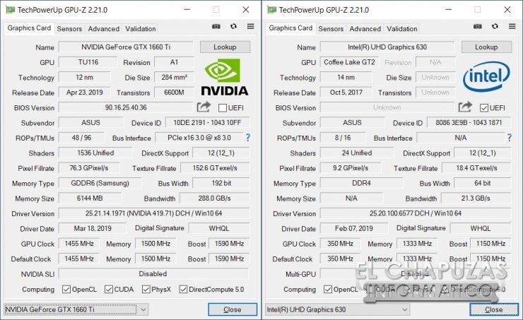 Asus ROG Strix G531G - GPU-Z