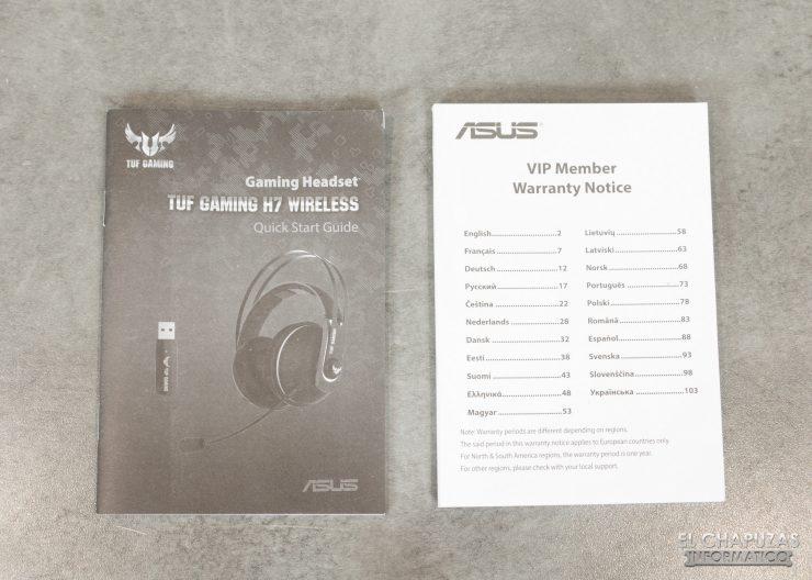 TUF Gaming H7 Wireless - Documentación