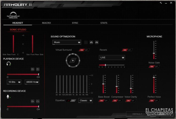 TUF Gaming H7 Wireless - Software 1
