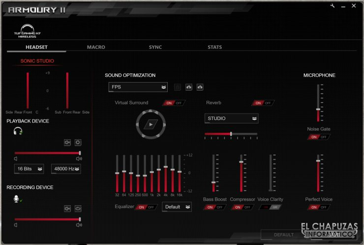 TUF Gaming H7 Wireless - Software 2