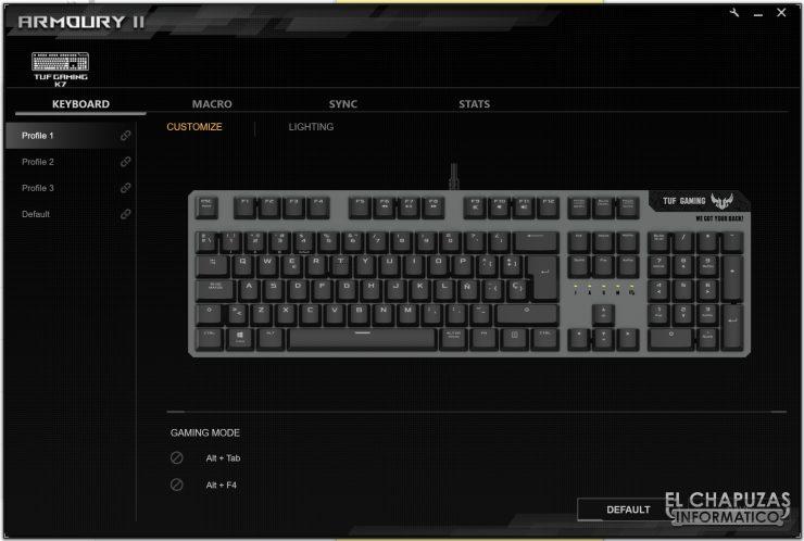 TUF Gaming K7 - Software 1