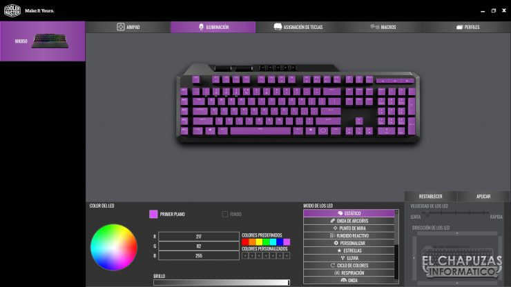 Cooler Master MK850 - Software 4