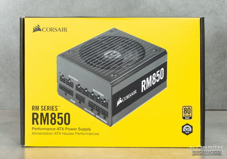 Corsair RM Series - Embalaje Frontal