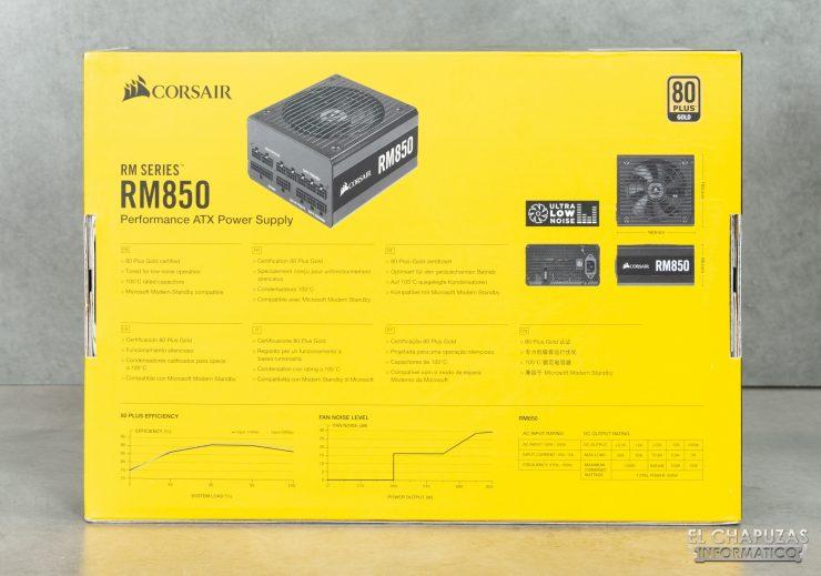 Corsair RM Series - Embalaje Trasero