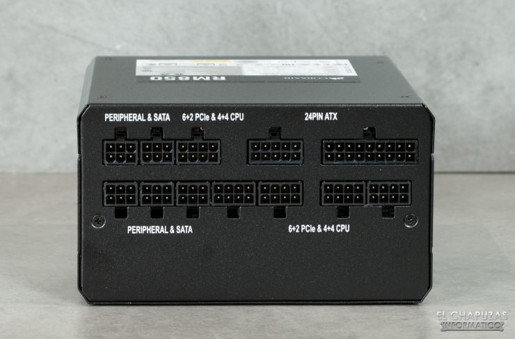 Corsair RM Series - Vista Conectores