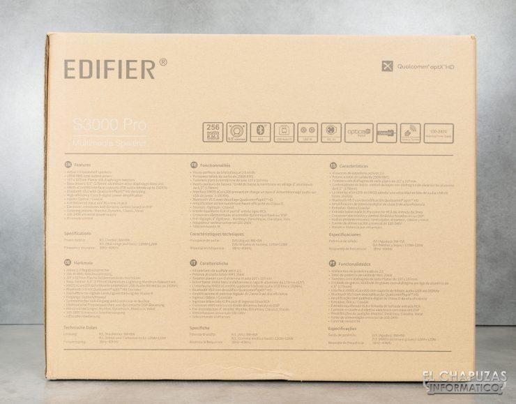 Edifier S3000 Pro - Embalaje Exterior 2