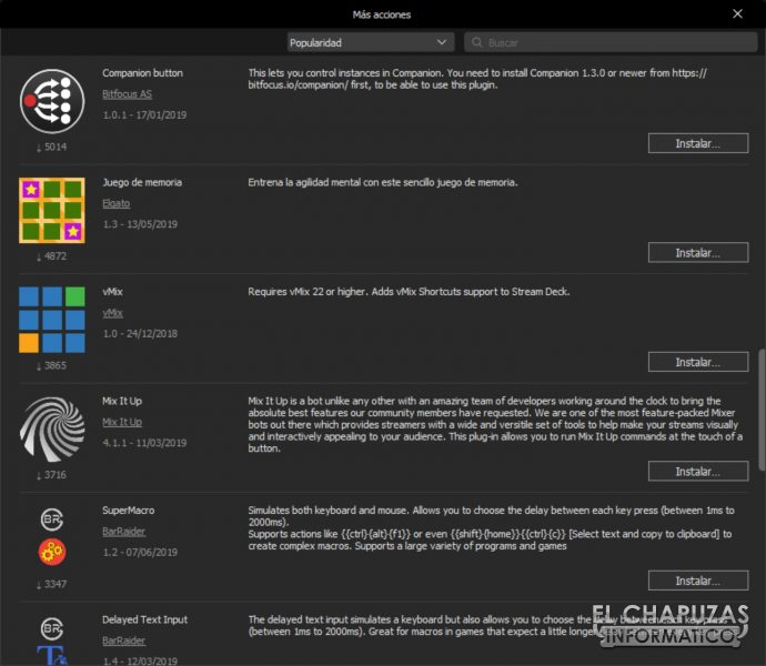 Stream Deck XL Software 5