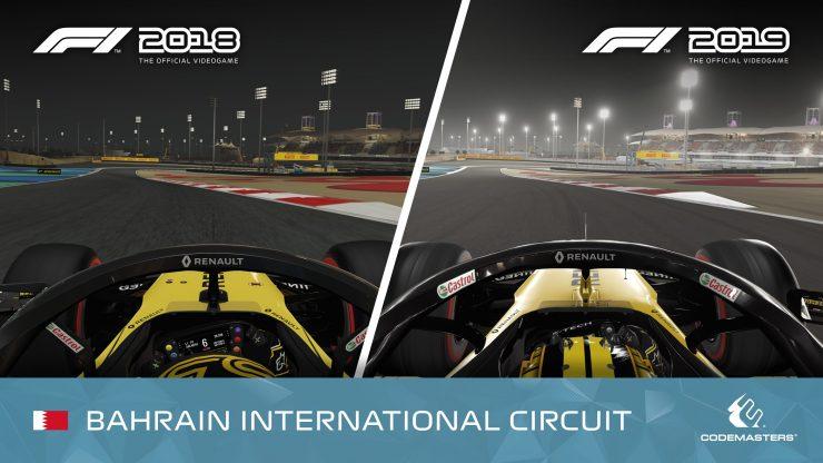 F1 2018 vs F1 2019