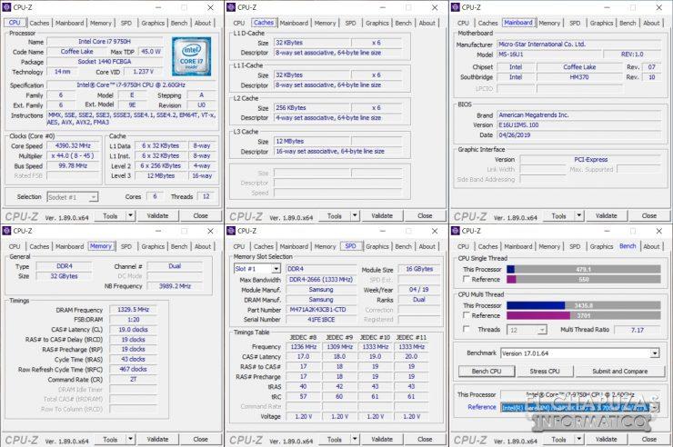 GE65 Raider 9SE - CPU-Z