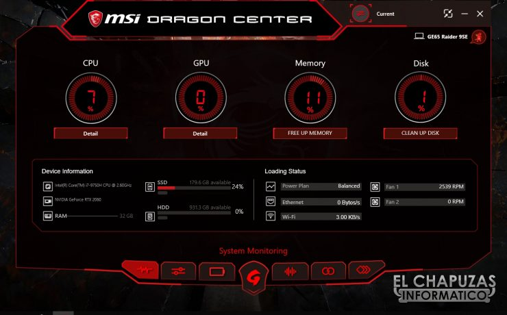 MSI GE65 Raider 9SE - Software 1