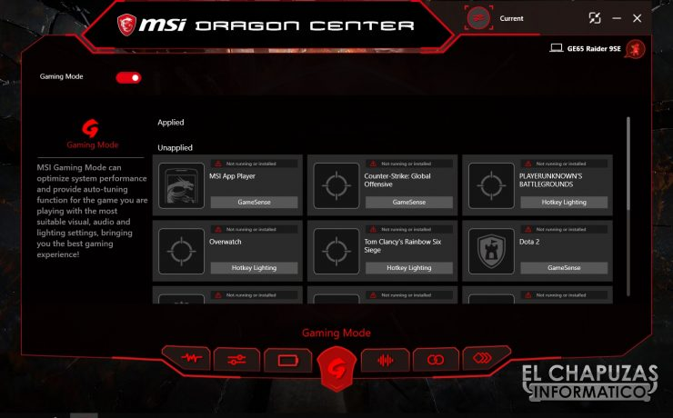 MSI GE65 Raider 9SE - Software 4