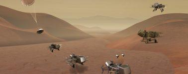 'Dragonfly': esta es la nueva misión de la NASA para llevar un drone a Titán, la luna más grande de Saturno