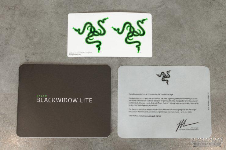 Razer Blackwidow Lite Mercury - Documentación