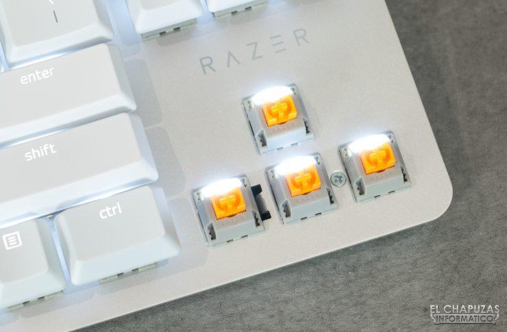 Razer Blackwidow Lite Mercury - Interruptores