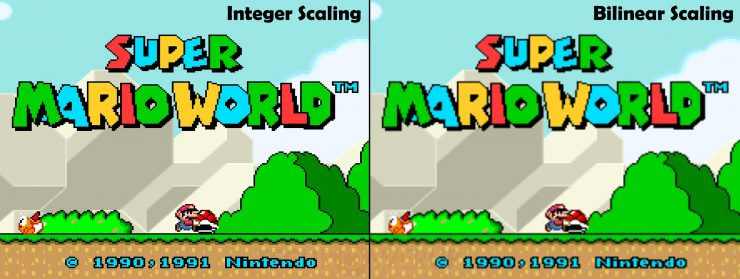 Super Mario World con Integer Scaling Escalado de Enteros 740x279 0