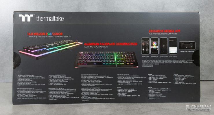 Level 20 RGB Cherry MX - Embalaje Trasero