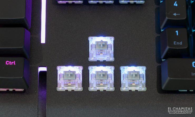 Level 20 RGB Cherry MX - Interruptores Cherry MX Silver
