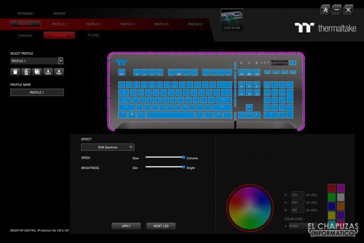 Level 20 RGB Cherry MX - Software 3