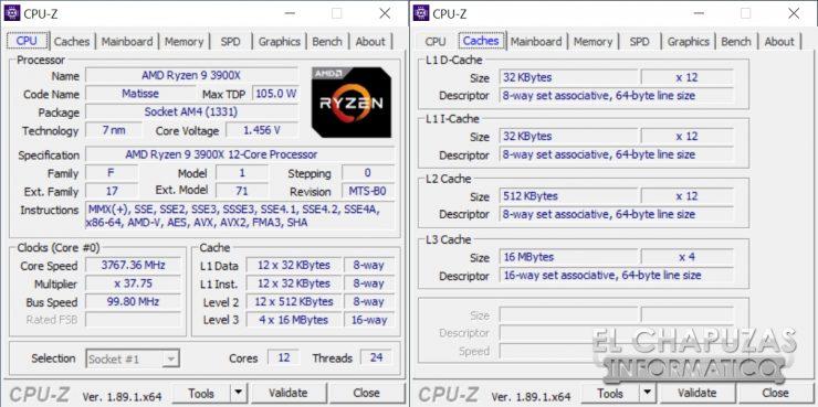 AMD Ryzen 9 3900X - CPU-Z