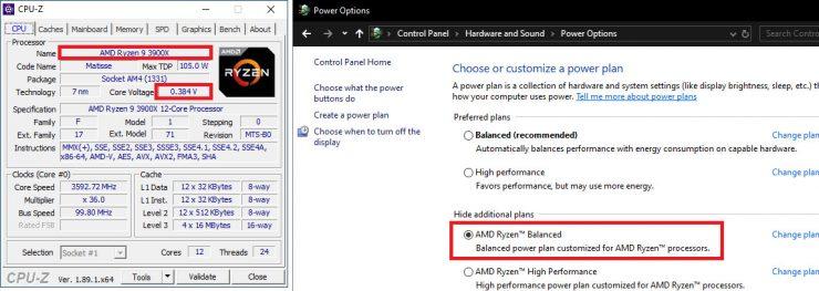 AMD Ryzen 9 3900X voltaje AMD Ryzen Balanced 740x263 1