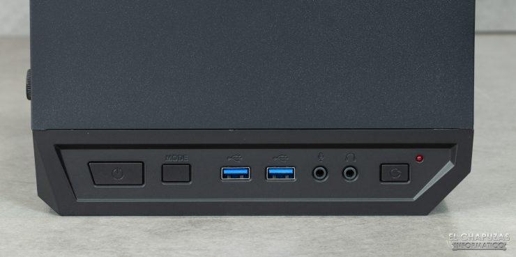 Antec DP501 Dark Phantom - Conectores y botones