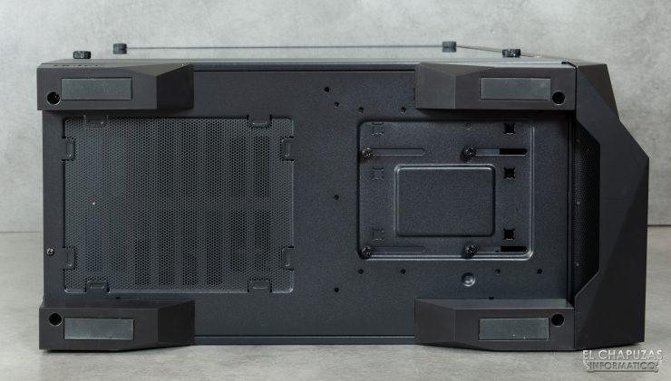 Antec DP501 Dark Phantom - Lado inferior