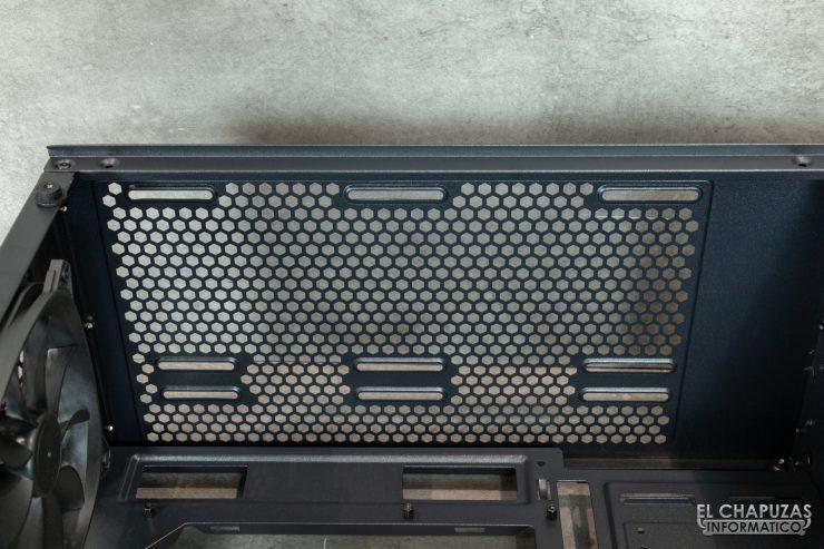 Antec DP501 Dark Phantom - Interior - Lado superior