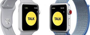 Apple desactiva temporalmente la función de Walkie-Talkie de los Apple Watch por una vulnerabilidad