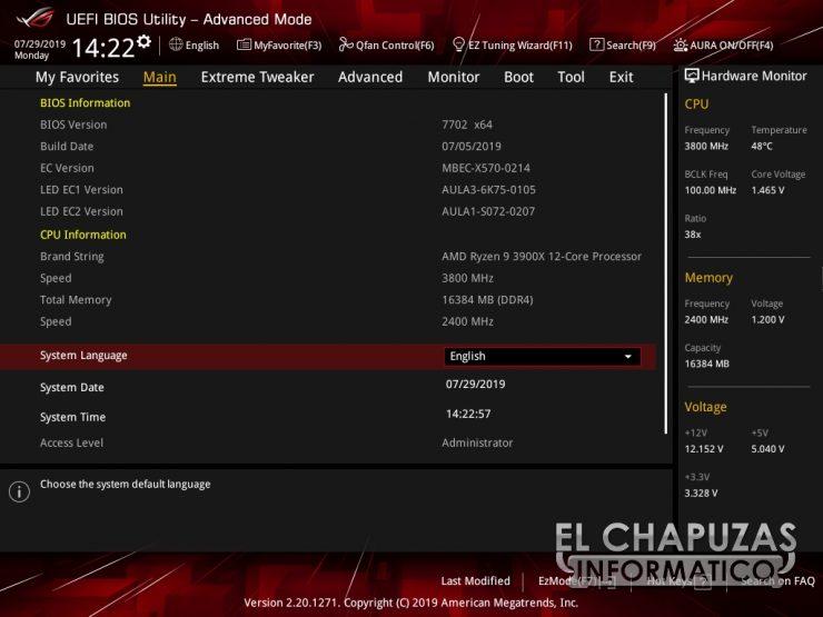 Asus ROG Crosshair VIII Formula BIOS 2 740x555 45