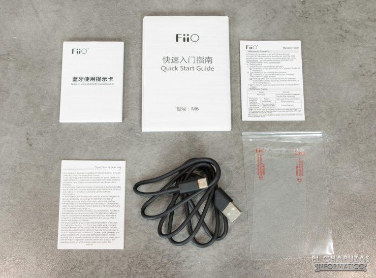 FiiO M6 - Accesorios