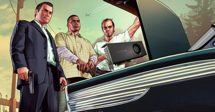 Grand Theft Auto V y una Radeon RX 5700