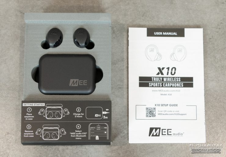 MEE Audio X10 - Embalaje interior