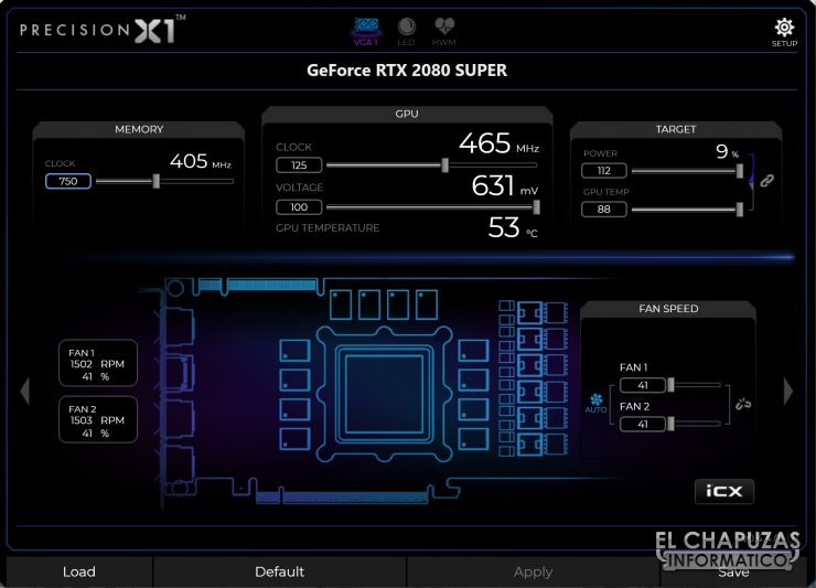 Nvidia GeForce RTX 2080 SUPER Founders Edition - Precision X1 OC