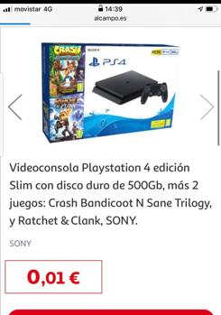 PlayStation 4 Alcampo